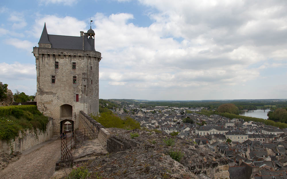 Chinon Chateau And Town
